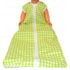 Schlafsack für Behinderte Kinder - Lime kariert