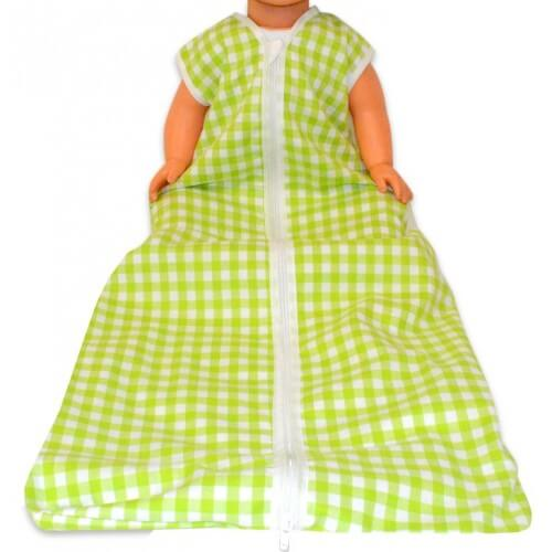 Schlafsack für Behinderte - Lime kariert