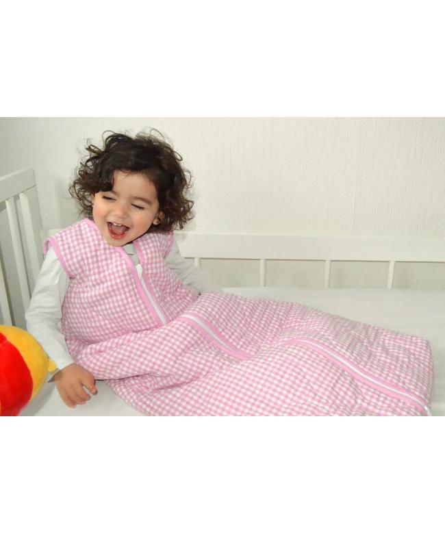 schlafsack f r behinderte kinder rosa kariert. Black Bedroom Furniture Sets. Home Design Ideas