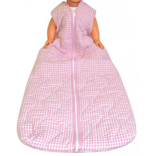 Schlafsack für Behinderte - Rosa kariert