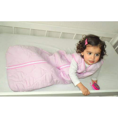 Schlafsack für Behinderte - Uni rosa