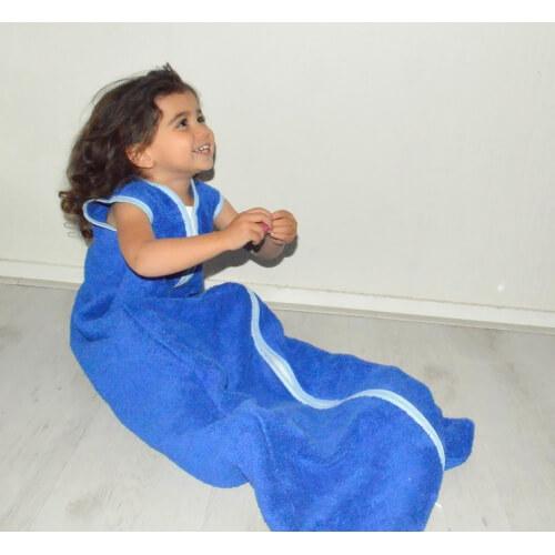 Kinderschlafsack Frottee - Cobalt