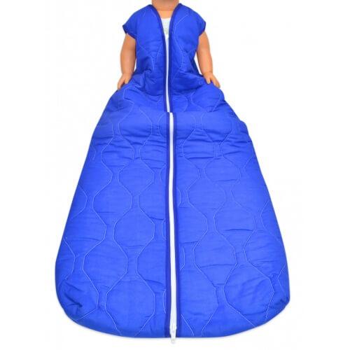 Großer Kinderschlafsack (winter) - Basic kobalt