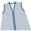 Großer Kinderschlafsack (sommer) - Tupfen cobalt