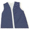 Großer Kinderschlafsack (winter) - Tupfen Navy